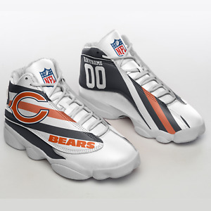 Chicago Bears Air JD13 Sneakers shoes, Personalized custom name and number