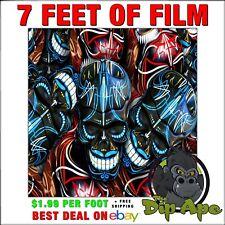 Hydrographic film skulls  colored Pinstripe 7 feet of film Dip Ape hydro dip