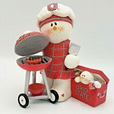 2004 Sarah's Attic Item #Osu26 Ohio State Tailgater Snowman Figurine Used in box