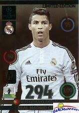 2015 Adrenalyn Champions League EXCLUSIVE Cristiano Ronaldo Limited Edition MINT