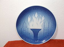 "Royal Copenhagen 1976 Collector Plate.""Montreal Games"""