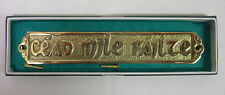 IRELAND IRISH HAND CRAFTED BRASS WALL PLAQUE LARGE PLAIN 25cm