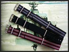 24mm Black NATO g10 nylon watch band 3pak army RAF Strap Bond IW SUISSE 18 20 22