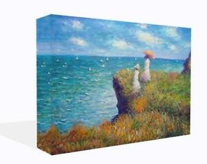 Cliff Walk By Claude Monet. Canvas Print Wall Art. Framed And Ready To Hang