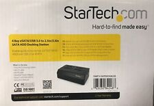 "Startech.com SATDOCK 4u3e 4 Bay eSATA/USB 3.0 to 2.5 pouces/3.5"" SATA HDD Dock"