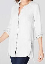 J.jill Linen Shirt Two Pocket 4x Yarn Dyed Blue