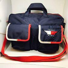 VTG 1990's Tommy Hilfiger Satchel Tommy Girl Handbag Purse Adjustable Strap Star