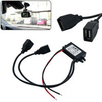 Dual USB Vehicle Car Dash   DVR Hard Wire Kit 12V to 5V Power Adapter Cable