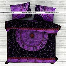 Dark Duvet Cover Doona Quilt Case Cotton Astrology Comforter Coverlet Home Decor
