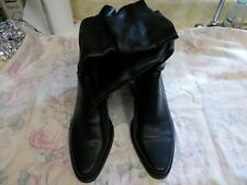 Ladies Gently Used Black Leather Boots by Nicole