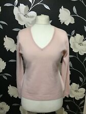 F&F Pink 100% Cashmere Jumper Size 16