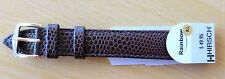 """Hirsch 16mm L/Band-Brown-""""Rainbow""""-Water Resistant- G/PLATED BUCKLE-XTRA LONG"""