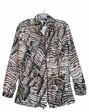 KENNETH COLE  SMALL Silk Jacket Animal Print Lined