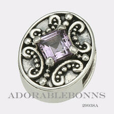 Authentic Lori Bonn S-Silver Amethyst Drama Queen Slide Charm 29938A Retired