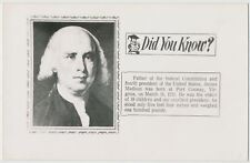 James Madison, 4th US President, Father of the Constitution RPPC