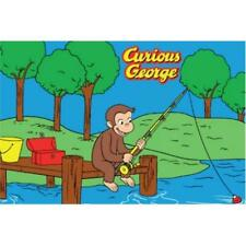 La Rug Cg-01 5178 Large Curious George George Fishing Juvenile Accent Rug