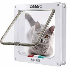 Puerta con solapa perro pequeño gato mascotas tamano facil instalacion