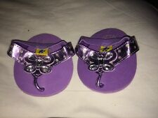 Build a Bear Purple Sandals with Butterfly