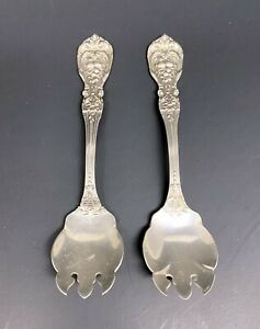 Vintage Pair Francis 1 Reed & Barton Sterling Silver Ice Cream Forks - Very Good