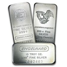 10 oz Silver Bar - Engelhard - SKU #40252