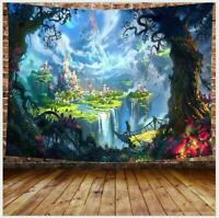 Fairy Castle Landscape Tapestry Room Wall Hanging Bedspread Wall Tapestry Decor