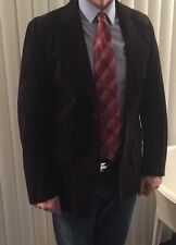 Banana Republic Mens 40r 100% Suede Leather Chocolate Blazer Was $495 NWOT