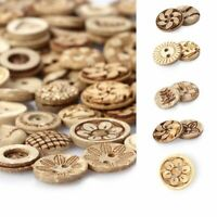 Decoration Handmade Clothes Flower Pattern Wooden Buttons Scrapbooking Sewing