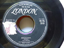 PAT BOONE Bernadine / love letters in the sand 45 HL 7019