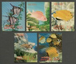 AOP Bhutan 3D stamps 1969 Fish 5v