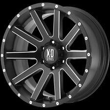 20 Inch Black Wheels Rims Toyota Tundra Truck Sequoia 5x150 XD Heist 5 Lug 5x150