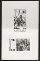 DDR #Mi2812S-Mi2813S MNH CV€3.00 Hosemann Metzkes Black Print [2359-2360]