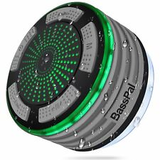 BassPal Shower Speaker, IPX7 Waterproof Portable Wireless Bluetooth 4.0 - Grey