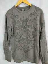 Men's Zara Sweatshirt Grey Size M Full Sleeve Crew Neck Pull Over Jumper
