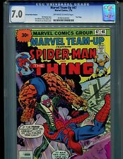 Marvel Team-Up #47 CGC 7.0 (1976) 30 Cent Price Variant Spider-Man and Thing