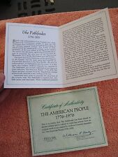 """Coa """" The American People"""" """"The Pathfinder"""" - Coa Only !"""