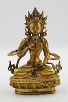 Buddha Figur Vajrasattva 21cm China Bodhisattva Statue Bronze - AsienLifeStyle