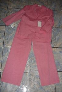 NEW ESCADA GROUP APRIORI LINEN COTTON PANTS SUIT S VERSATILE !!!
