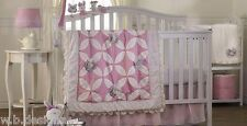 Lolli Living Violet 7-Piece Crib Bedding Set  Includes Lamp/Wall Art *New*