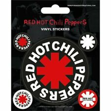 Red Hot Chili Peppers Vinyl Sticker Sheet 5 Stickers Official Pyramid Product
