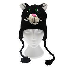 FUN Crazy Cat realizzata a mano invernale lana cappello Animale Fodera in Pile Taglia Unica, Unisex