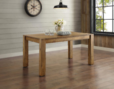 Rustic Dining Table Modern Country Kitchen Farmhouse Wood Distressed Seats 6 New