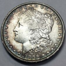 1896 UNCIRCULATED MORGAN W/ ORIGINAL PATINA NEVER CLEANED OR DIPPED DETAIL!!