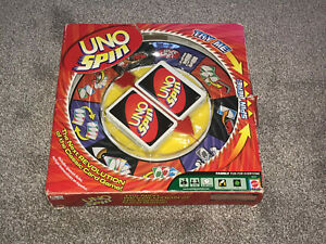 UNO SPIN GAME : BY MATTEL - IN VGC IN BOX (FREE UK P&P)
