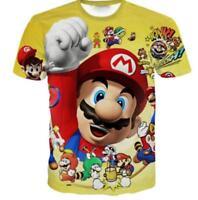 New Fashion Womens/Mens Cartoon Super Mario Bros 3D Print Casual T-Shirt YT18