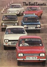 Ford Escort Mk1 1971-72 UK Market Sales Brochure Base L XL GT Estate