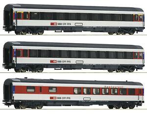 """Roco H0 54166-S Eurocity-Wagenset der SBB 3-teilig """"Neuheit 2020"""" - NEU + OVP"""
