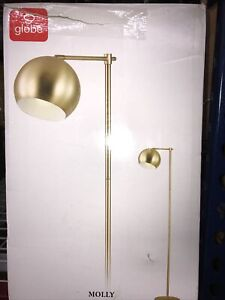 "Globe Electric 12915 Gold Molly Single Light 60""H Floor Lamp With 5' Cord"