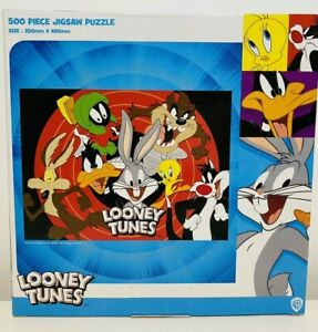 Jigsaw Puzzle WB Looney Tunes 500 Pieces Bugs Bunny Marvin Martian Sylvester