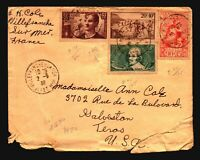 France 1938 Cover to USA / Creases - Z16921