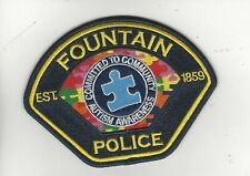 Fountain Police- Autism Awareness Patch